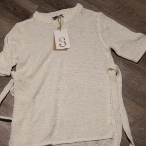 Sabo Skirt White Knit top